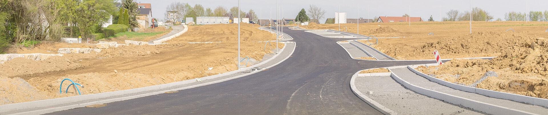 Straße Neubaugebiet