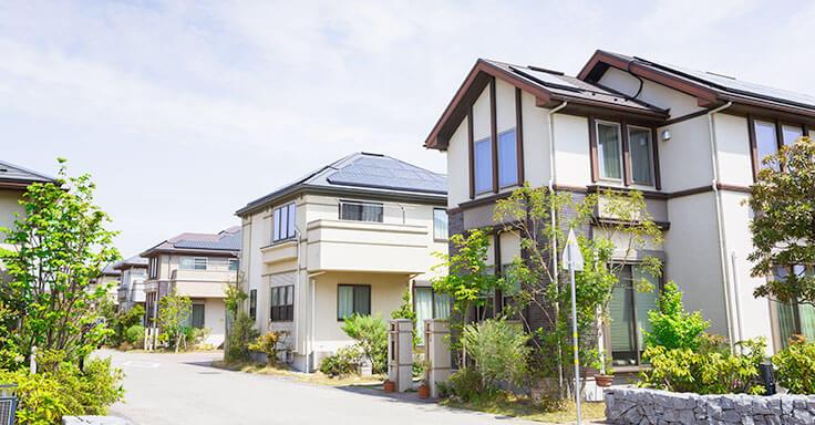 Siedlung Häuser
